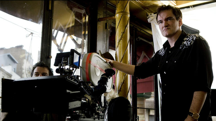 Tarantino on set of Inglourious Basterds