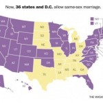 same sex marriage map of the USA