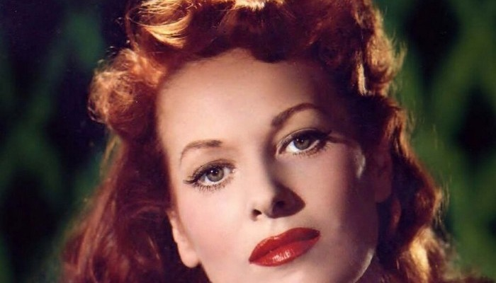 Maureen O'Hara's favorite image of herself, used on the cover of her autobiography