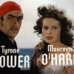 Tyrone Power and Maureen O'Hara in a screenshot from the trailer for the film The Black Swan 1942